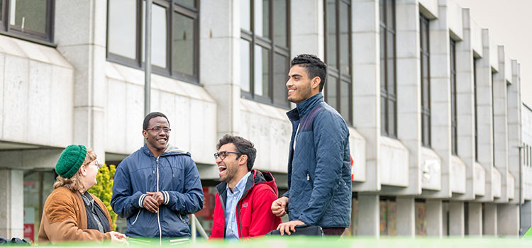 A group of international students in Aberdeen