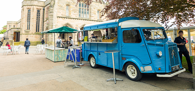 Food truck on campus at the University of Aberdeen