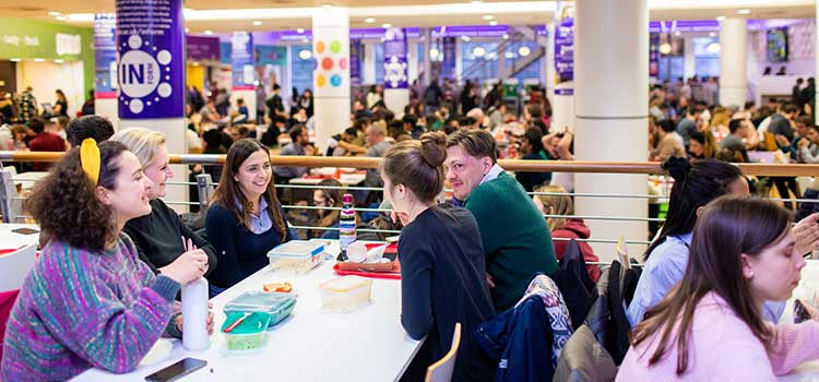 The busy lunch room at the University of Aberdeen's Students' Union